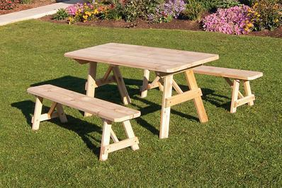 Amish Cedar Outdoor Dining Set