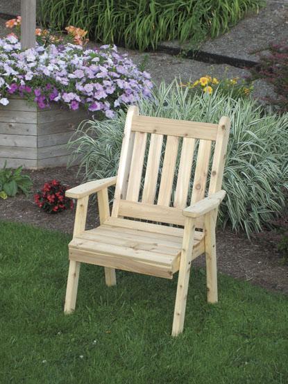 Amish Cedar Wood Traditional English Dining Chair
