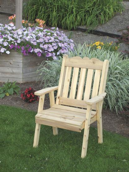 Amish Outdoor Cedar Royal English Dining Chair