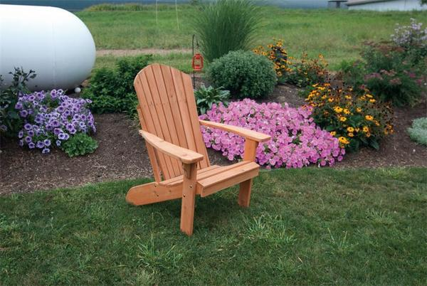 Amish Cedar Wood Fanback Adirondack Chair