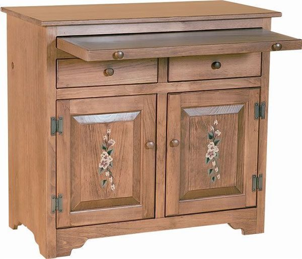 Amish Pine Sideboard with Server Tray