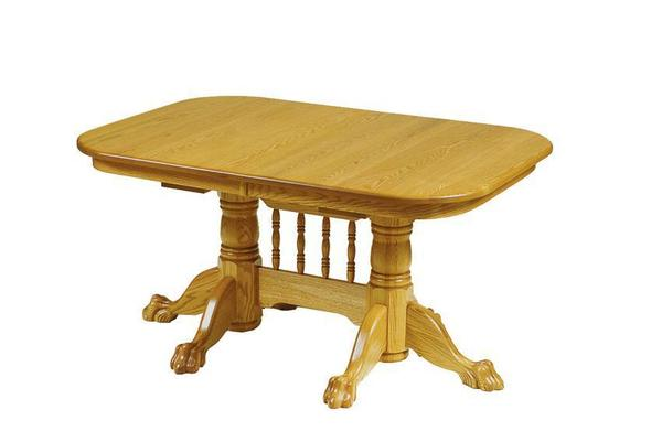Amish Rockford Double Pedestal Dining Room Table