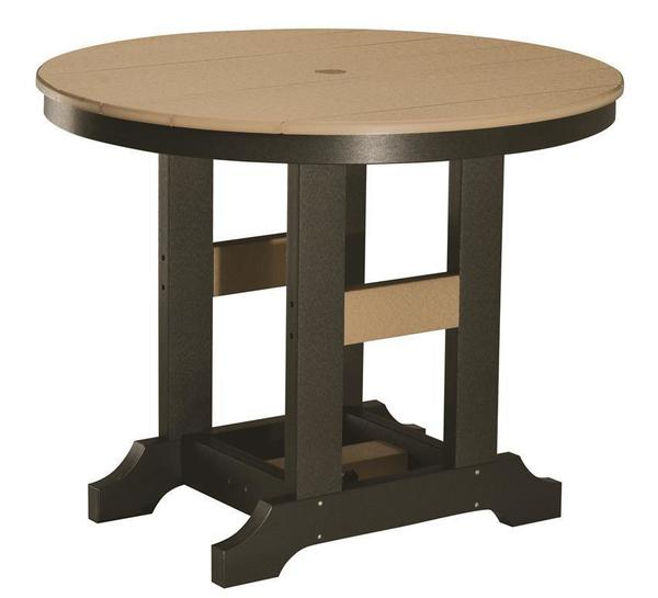 "Berlin Gardens 38"" Round Poly Patio Bar Table"
