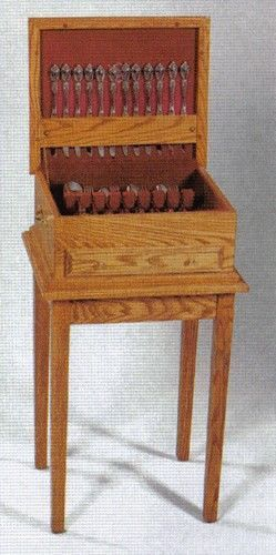 Amish Standing Flatware Chest