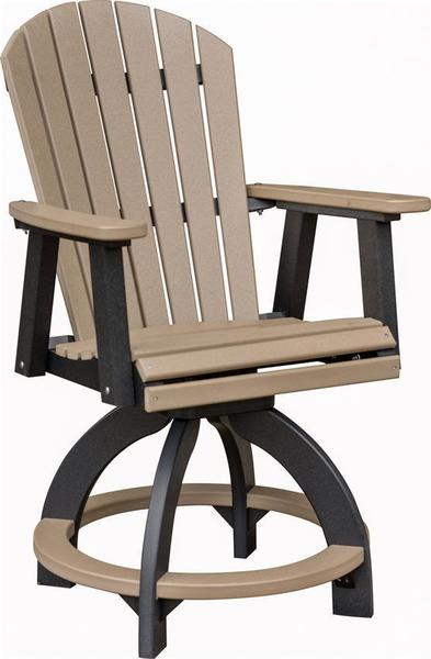 Berlin Gardens Comfo-Back Outdoor Swivel Poly Counter Chair