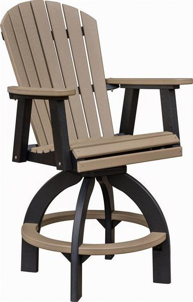 Berlin Gardens Comfo Back Poly Swivel Outdoor Bar Stool From