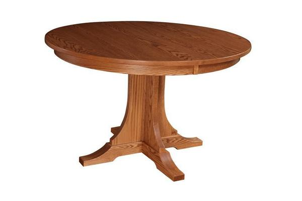 Amish Copper Creek Single Pedestal Table