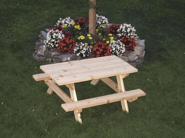 Amish Cedar Wood Kids Picnic Table