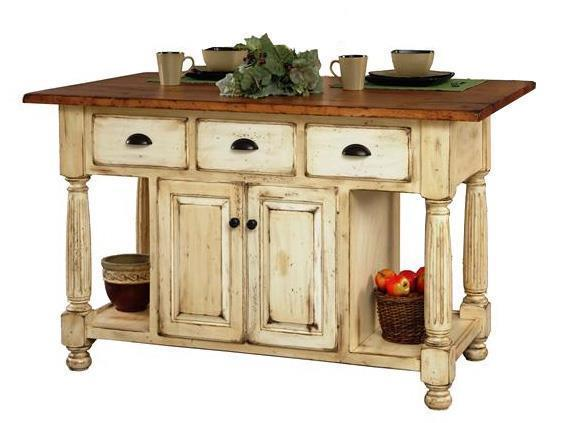 Amish Made Large French Country Kitchen Island From