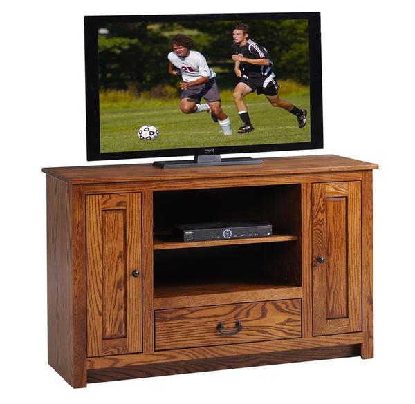 Amish Express Tall Mission TV Stand - Quick Ship
