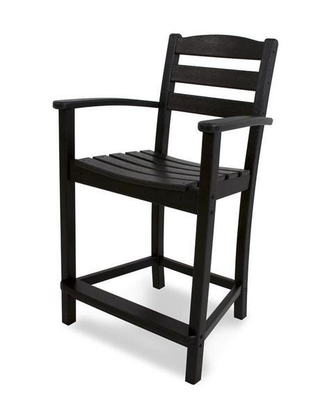POLYWOOD® La Casa Cafe Counter Arm Chair
