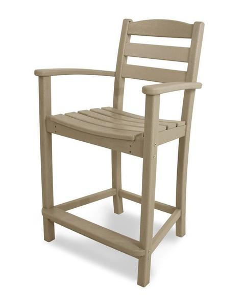 POLYWOOD® La Casa Cafe Counter Stool with Arms