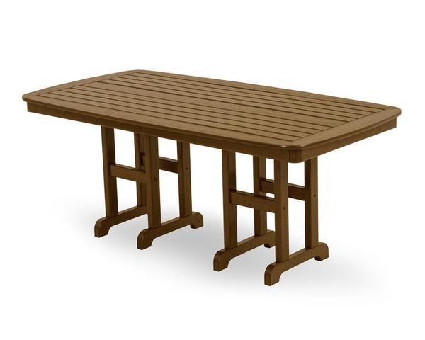 "POLYWOOD® Nautical 37""x 72"" Dining Table"
