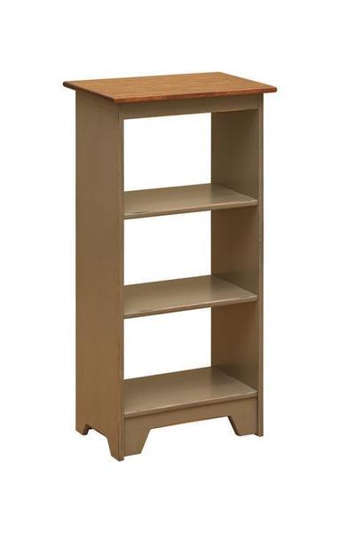 Amish 3 Tier Pine Open Bookshelf