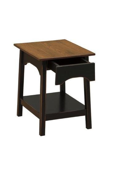 Amish Shaker Pine End Table with Drawer