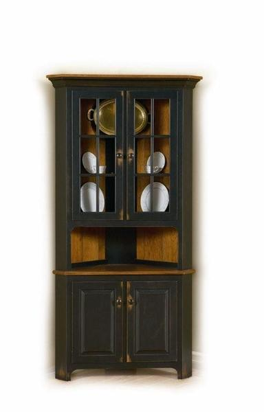 Plymouth Corner Hutch From Dutchcrafters Amish Furniture