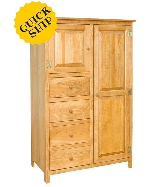 . Amish Pine Armoire Quick Ship