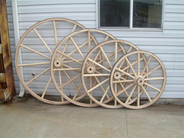 "Amish 36"" Heavy Duty Wagon Wheel"
