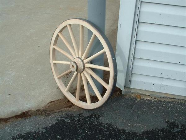 "Amish 36"" Jumbo Decorative Cannon Wheel"