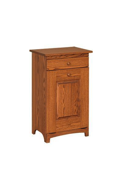 Amish Shaker Wooden Trash Bin with Drawer