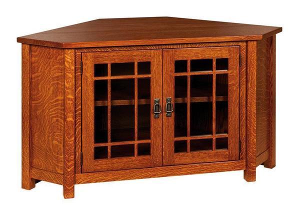 Amish McCoy Mission Corner TV Cabinet