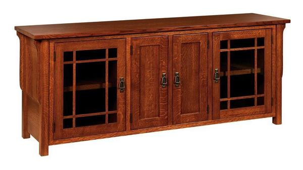 Amish Lancaster Mission Solid Wood TV Stand