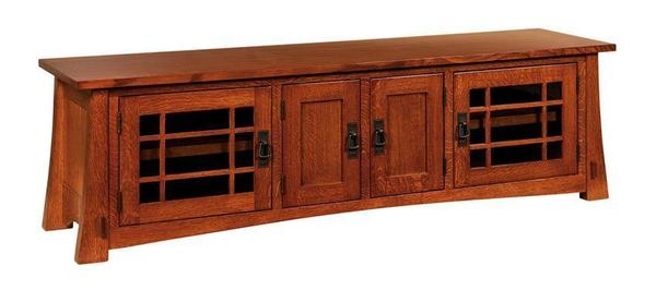 Amish Montana Mission TV Stand with Four Doors