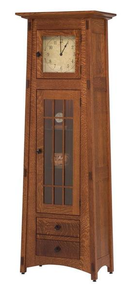 Amish Mission Clock Cabinet