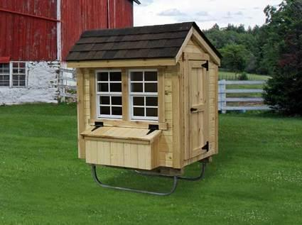 Amish Made Chicken Coop Kit 3' x 4'