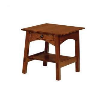 Amish Large Mission End Table