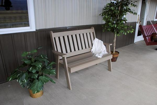 Amish Made Outdoor Poly English Garden Bench