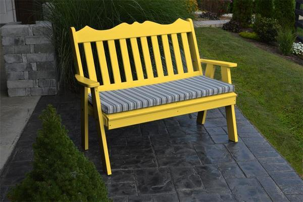 Amish Poly Royal English Garden Bench