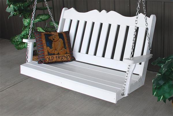 American Royal English Poly Porch Swing