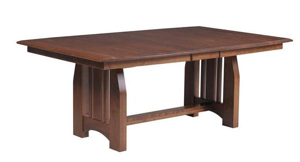 Amish Bordeaux Mission Trestle Dining Room Table