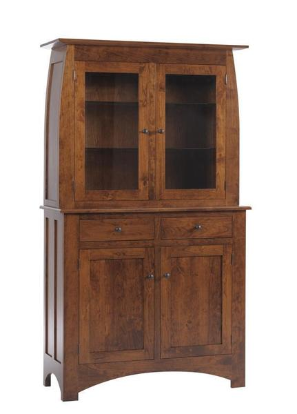 Amish Bordeaux Mission Two Door Hutch
