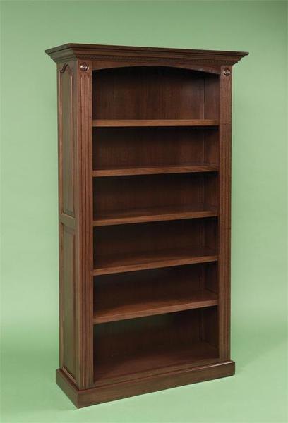 Amish Premium Raised Panel Solid Wood Bookcase