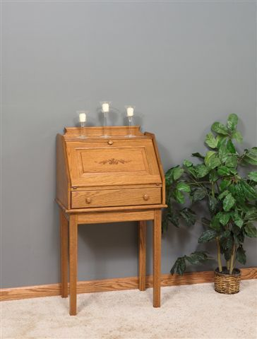 Amish Solid Wood Shaker Secretary Desk