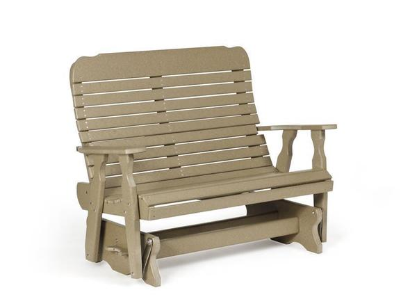 Amish Poly Easy Glider Bench