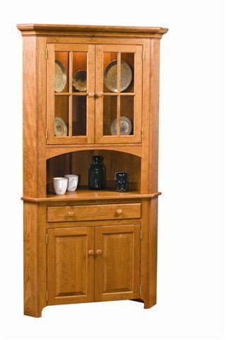 Shaker Corner Hutch From Dutchcrafters Amish Furniture