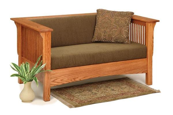 Amish Moon River Mission Loveseat