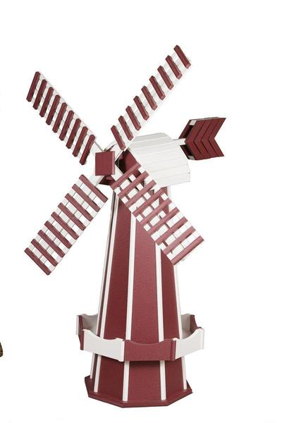 Amish-Made Poly Two-Tone Dutch Windmill - Large