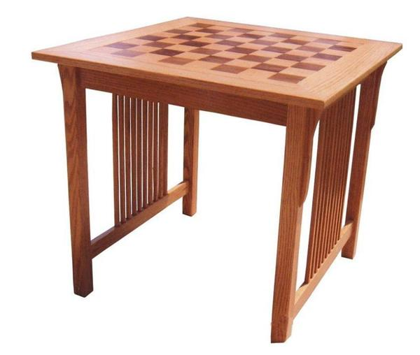 Prairie Mission Chess Game Table
