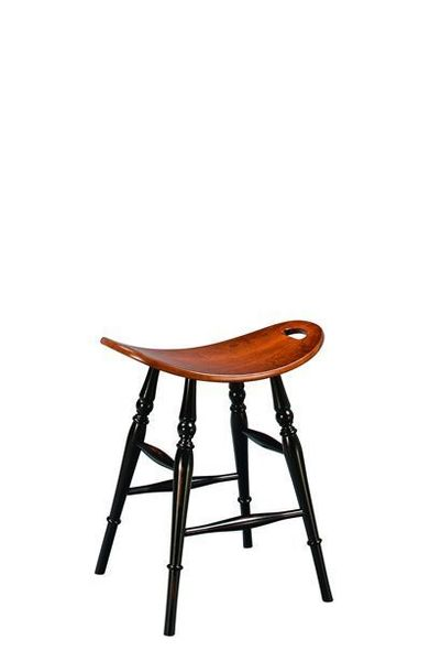 Amish Saddle Barstool