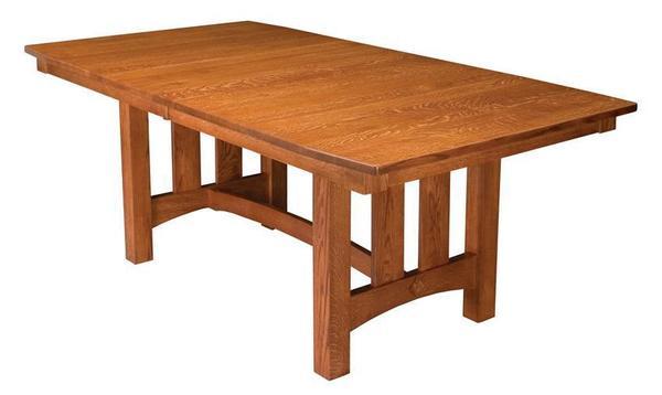 Amish Goshen Shaker Trestle Dining Table