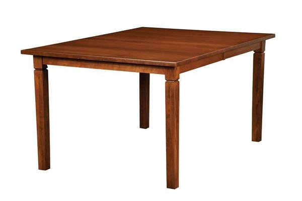 "Amish Handcrafted Parkland Rectangular Dining Table 36"" Width"