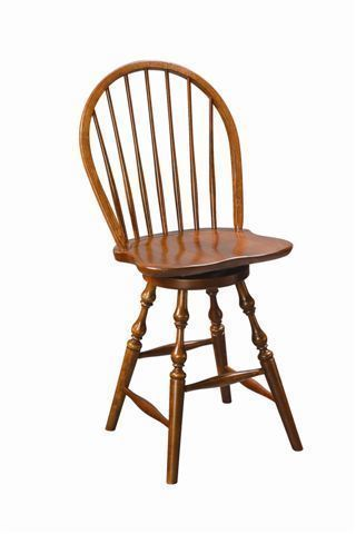 Amish Winthrop Windsor Swivel Barstool