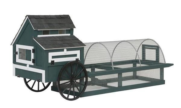 Amish 12' Easy-Roll Chicken Coop