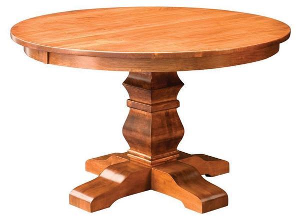 Amish Bloomington Single Pedestal Dining Table