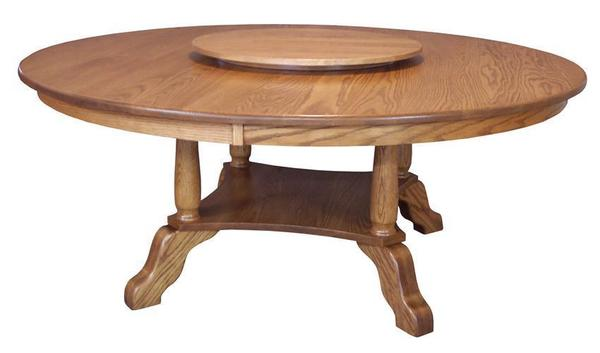 Amish Hardwood Traditional Round Dining Table