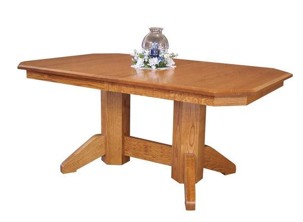 Amish Mission Double Pedestal Dining Table